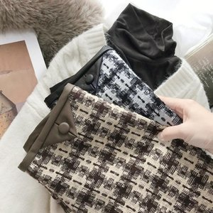 Skirts Cloth Skirt Of Tall Waist Female Han Edition 2021 Autumn Winters Package Buttocks Thin Ga Color A Word
