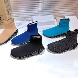 knitted elastic Socks boots Spring Autumn classic Sexy gym Casual women Shoes Fashion platform men sports boot Lady Travel Thick sneakers Large size 35-41-45 us4-us11