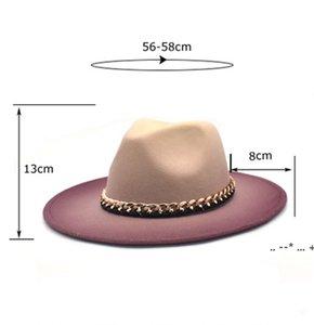 Hat Jazz Caps European American Round Cap Bowler Hats Winter Autumn Imitation Woolen Women Men Ladies Fedoras Top EWE5801