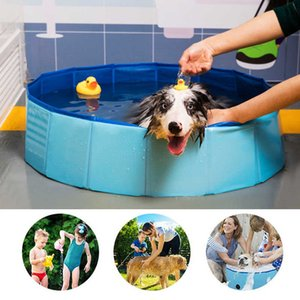 Foldable Dog Swimming Pool Pet SPA Portable PVC Bathing Tub Kids Indoor Outdoor Folding Wash Bathtub Collapsible for Large Dogs X0710