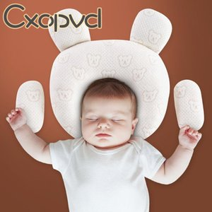 Breathable Stereotypes Anti-head Baby Protective Pillow 100% Cotton Latex For Born 0-1 Years Old Head Shaping Pillows
