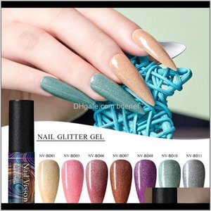 Laser Glitter Manicure Semi Permanent Vernis Top Coat Soak Off Uv Led Nails Gel Varnish Nail Art Polish Uopjj Sy7Cq