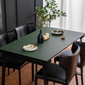 Table Cloth Nordic Ins Leather Tablecloth No Wash Waterproof Pvc Coffee Oil Proof Solid Color Mats Double-sided Home Use