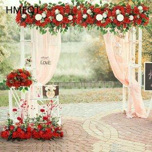 تخصيص زهرة الاصطناعي روز الفاوانيا pompom ترتيب الزفاف الجدول المحور الكرة حزب قوس ديكور خلفية الزهور الزخرفية wrea