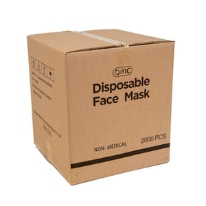 2000pcs box OMC in Stock in Warehouse in USA Wholesale Disposable 3 ply faceshield Earloop Facemask 3 ply disposable face masks