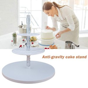 Other Bakeware 3 Tier Plastic Cake Stand Afternoon Tea Wedding Plates Anti Gravity Party Decoration Sugar Craft Making Tool