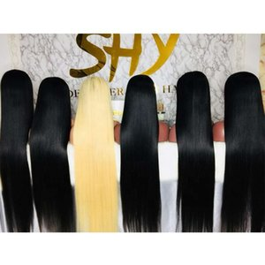 high qualitySHY LUXE Top Quality 40 Inch Lace Raw Preplucked Gluels Human Hair WIG In Stock For Model Niki StyleTW