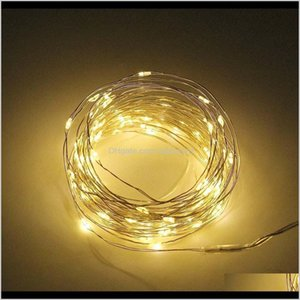 Decorations Outdoor 20M 10M Led Solar Lamp String Fairy Light 8 Modes Flash Garland Waterproof For Christmas Garden Street Patio Decor Cdrop