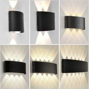 IP65 LED Wall Lamp Outdoor Waterproof Garden Lighting Aluminum AC86-265 Indoor Bedroom Light For Bedside Living Room Stairs Fence