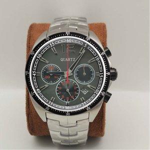 Montre de Luxe Luxury Mens Relojes Cronógrafo Movimiento de cuarzo Relojes de pulsera Hombre SS Moda Deportes Reloj de pulsera Relogio Masculino Reloj masculino Regalo