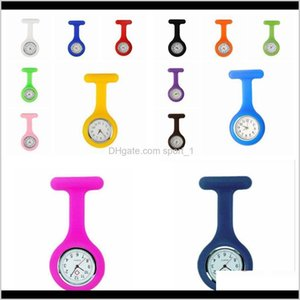 Event Festive Supplies Home Garden Drop Delivery 2021 120Pcs Promotion Christmas Gifts Colorful Brooch Fob Tunic Pocket Watch Sile Cover Nurs