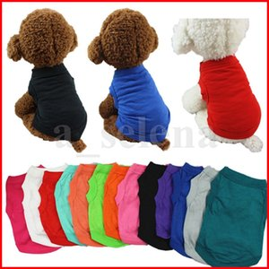 Pet T Shirts Summer Solid Dog Apparel Clothes Fashion Top t-Shirts Vest Cotton Puppy Small Clothing Supplies