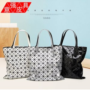 Best Selling Geometric Women's Bag Japanese Style Drawstring Folding One Shoulder