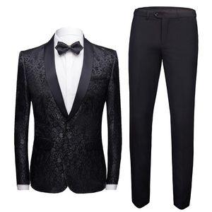 Мужские костюмы Blazers 2021 Nuevo Para Hombre Traje de 2 Piezas Convunto Slim Deseo Blazer Chaquea + Pantalones Esmoquin Otoo