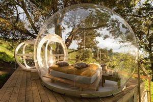 Палатки и приюты Открытый кемпинг Палатка хорошего качества Надувной Пузырь EL 3M Купольный Дом ПВХ Иглоо с воздуходувкой