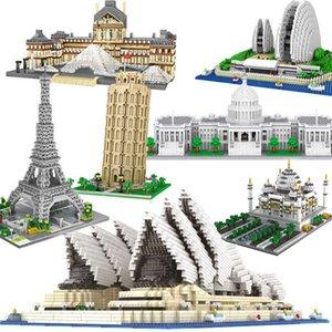 Architecture Big BenTower London Pair Louvre Micro Building Blocks Capitol Sydney Opera House Taj Mahal Construction toyN0U8
