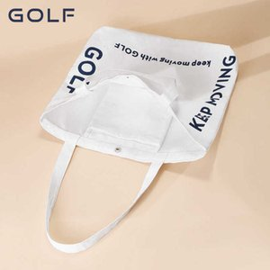 Golf   canvas bag women's Single Shoulder Messenger Bag students' literature and art simple large capacity small fresh