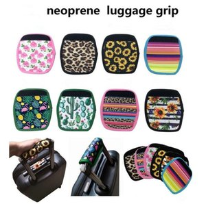 Neoprene Luggage Handle Wraps Strap Grips Trunk Travel Bag Case Tags Trendy Floral Sports Duffle Tote Suitcase Luggages Straps Identifier AEC3