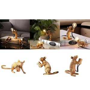 Table Lamps Nordic Animal Mouse Lamp Luxury Living Room Bedroom Lights Resin Mini Decoration Night Creative LED Home Y1I5