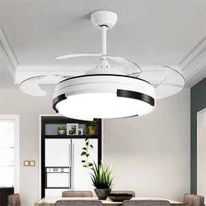 Ceiling Fan With Lights Remote 3 Colors LED Invisible Blade Modern Simple Decorative For Home Living Room Dining Fans
