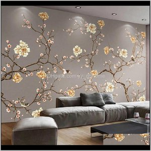 Wallpapers Custom 3D Mural Wallpaper Flower And Bird Art Painting Po Wall Papers Home Decor For Living Room Bedroom Papel De Parede Lx Vmlld