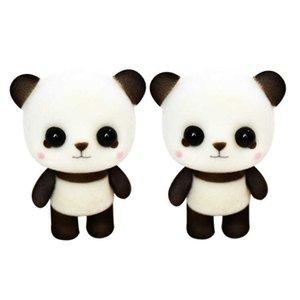 6.3cm PVC 몰려 동물 슈퍼 귀여운 팬더 인형 플러시 장난감 박제 동물 장난감 발렌타인 데이 아이들을위한 최고의 장난감