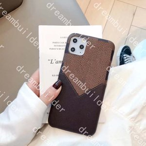 L fashion phone cases for 12 pro max 11Pro 11proMax 7 8 plus X XS XR XSMAX PU leather case designer shell with card