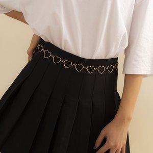 Chain Women's Waist Decorative Thin Simple Matching Dress Metal Love Stitching Fashion Small Belt Skirt NBTQ