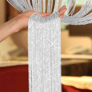 1*2 M Glitter String Door Curtain Beads Room Dividers Beaded Fringe Window Panel Divider Home Decor Creative Drape Room Decor 210913