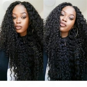 Deep Curly Full Lace Human Hair Wigs Virgin Brazilian Human Hair Full Lace Wig Baby Hair Glueless Lace Front Wig Top Quality