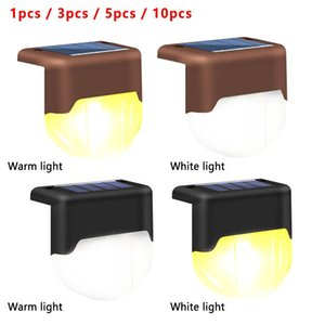 Solar Lights Step Outdoor Waterproof LED Stair Fence Lamp Decoration For Patio Stairs Garden Yard Decorations
