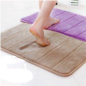 Water-absorbent Non-slip Mat Household Elastic Memory Foam Bathroom Shower Mat Soft Comfortable Foam Quick-drying Bath Carpet
