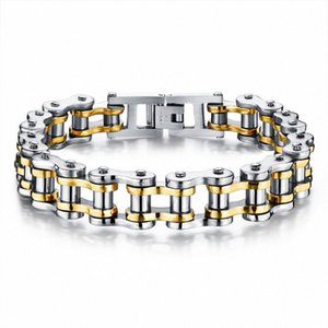 Biker 316L Stainless Steel Mens Bracelet Fashion Sports Jewelry Bike Bicycle Chain Link Bracelet Casual Jewellery 3 Color 07Bm#