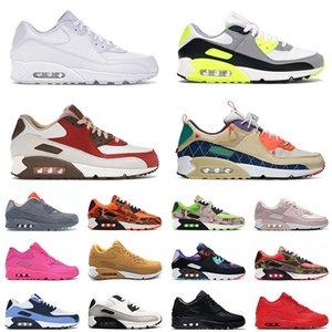 airmax max 90 off white 2021 وصول كلاسيكي 90 حذاء جري رياضي مقاس 12 ثلاثي أبيض تريل فريق ذهبي بيكون أخضر رجالي نسائي 90s حذاء رياضي 46 يورو