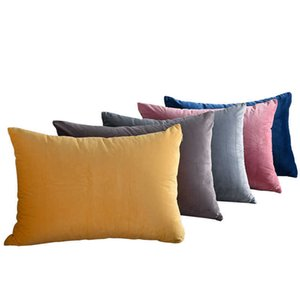Pillow cushion sofa living room rectangular king bed back pillow cover without corePillow Case XWQE