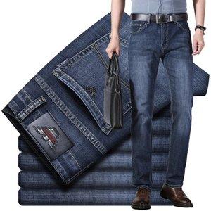 Летние тонкие мужские джинсы хлопчатобумажные эластичные Италия Eagle Brand мода бизнес брюки классический стиль весенние джинсы джинсовые брюки