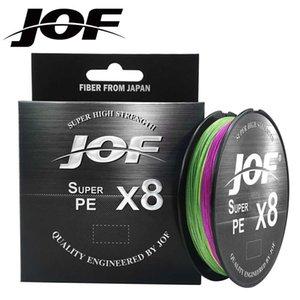 JOF Brand 300M 500M Top Grade Japanese 0.14-0.5mm Fluorocarbon Coating Fishing Line Monofilament Carp Wire Leader 210609