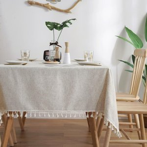 Table Cloth Modern Tablecloth Coffee For Living Room Lace Tassel Linen Rectangle Home Event Party Decorations Cover