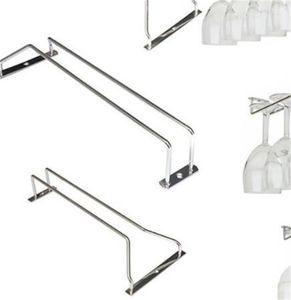 New Red Wine Glass Goblets Hanger Rack Upside Down Stemware Home Bar Pub Holder Stainless Steel Shelf Organizer 457 V2