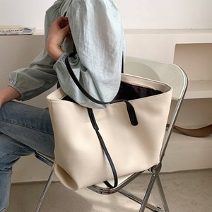 HBP fashion women's handbags trendy large-capacity single-shoulder women's soft leather shopping bags-2
