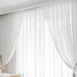 Curtain & Drapes 1PCS Modern Window Curtains Sheer Voile Tulle For Bedroom Living Room Home Decor Products Treatment Decorative Drape