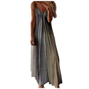 #55 Casual Loose Dress Women Summer Cotton Patchwork Boho Bow Camis Maxi Sundress Plus Sizes Big Large Dress Robe Femme