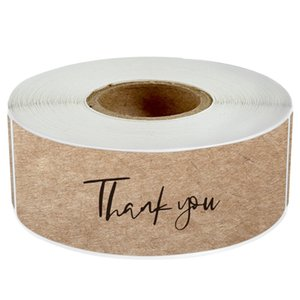 120pcs Roll Thank You Paper Adhesive Stickers Candy Bag Gift Box Packaging Wedding Baking Label Decor