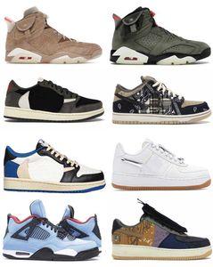 2021 Authentic Travis Scott x 6 British Khaki Shoes SB Cactus Jack 4 Medium Olive 6s Low 1 High Og Fragment Dunk Men Women Outdoor Sports