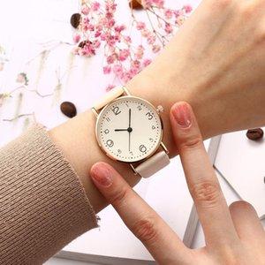 Wristwatches 2021 Top Fashion Style Luxury Women Leather Strap Analog Quartz Wrist Watch Gold Ladies Dress
