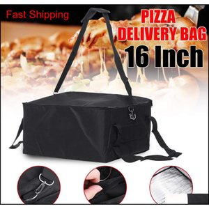 Boxes Kitchen Storage Housekeeping Organization Home & Garden16 Inch Portable Thermal Food Pizza 42X42X23Cm Insulated Picnic Lunch Box Ice P