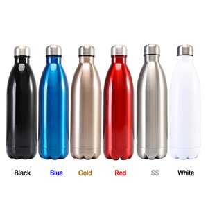 DHL Double Walled Vacuum Insulated Water Bottle Cup Cola Shape Stainless Steel Travel Classical Color Protable 500ml Sport Flasks Thermoses Bottels