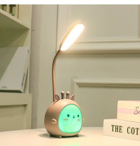 LED Table Lights USB Rechargeable Desk Lamps Three-speed Dimming Cute Dormitory Reading Lighting Eye Protection Bedroom Night Light