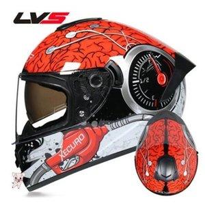 LvS imitation racing street car motorcycle helmet men and women four seasons general locomotive anti-fog full helmet personality cool winter