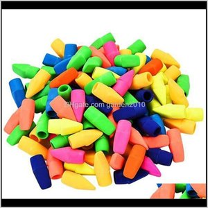 Erasers Top Caps Pencil Eraser For Kids School Office Supplies Random Color Qm9Sd Bvoaw